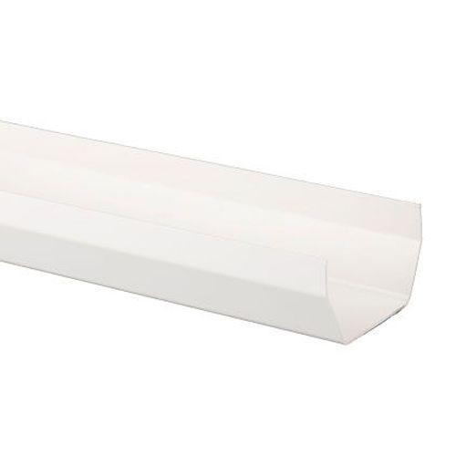 Plastic Guttering Square Style 4m Length 114mm - White