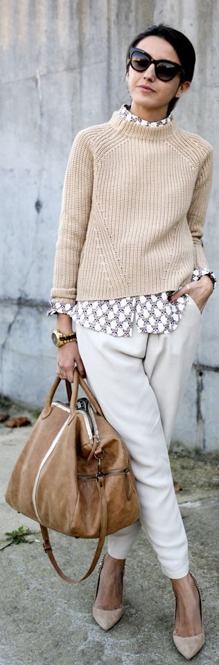 soft neutrals for the beginning of Fall, just when the air gets a bit crisper.