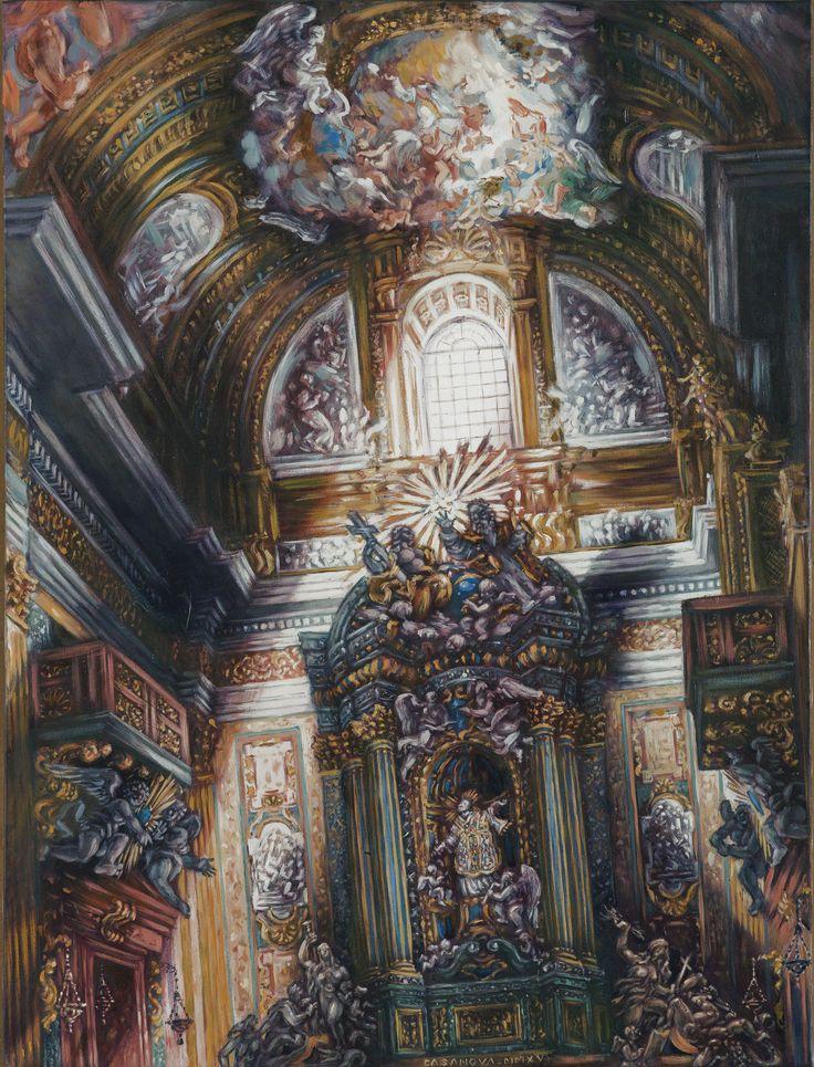 Philippe Casanova; Gesù (Rome); Saint Ignacius Altar; Oil on canva; 2015