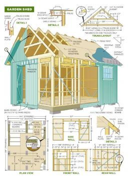 401 best tree houses cabanas and studio sheds images on for Storage shed plans pdf