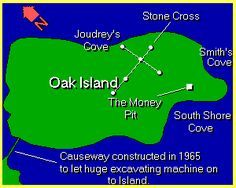 OAK ISLAND | The UnMuseum - Oak Island Mystery | One can only wonder what would have happened if young Daniel McGinnis had chosen to go exploring somewhere else on that fateful day in the summer of 1795. ... But McGinnis did see the clearing and the depression and the tackle block. ... He did return later with two friends ... And together, with picks and shovels, they did start perhaps the most famous treasure hunt of modern times. ...