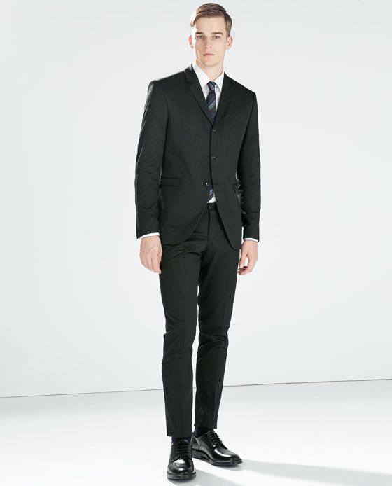 ZARA - MAN - BLACK STRIPE SUIT