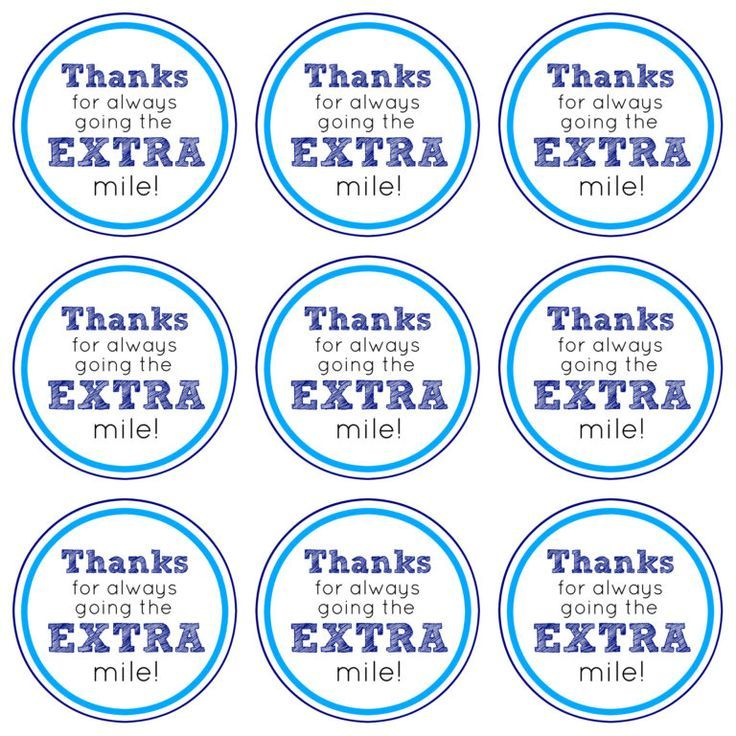 graphic relating to Thanks for Going the Extra Mile Printable identify Deliver Much more this Trip Period Reward Principle + No cost Printable