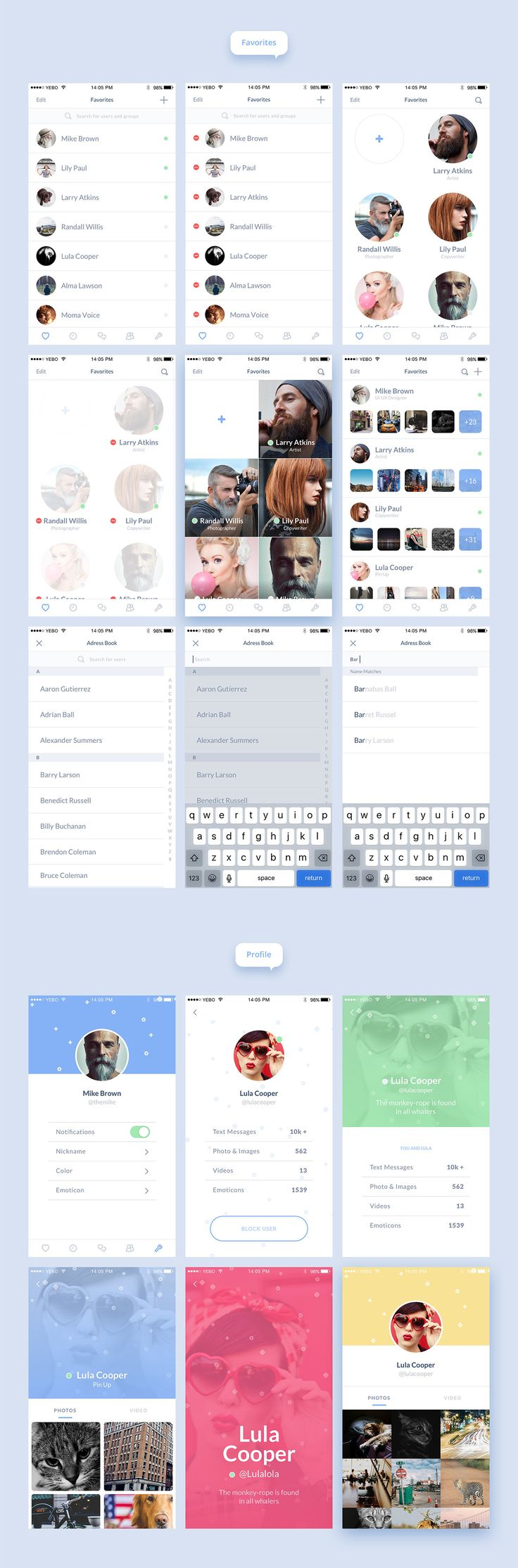 Burble Mobile UI Kit on Behance