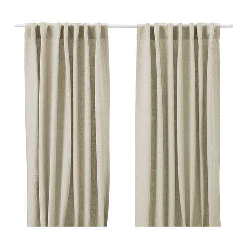 $50 linen. AINA Pair of curtains - natural - IKEA: Dining Room, Aina Curtains, Curtains Ikea, Curtains Natural, Bedroom Curtains, Fabric, Linen Curtains, Ikea Curtains