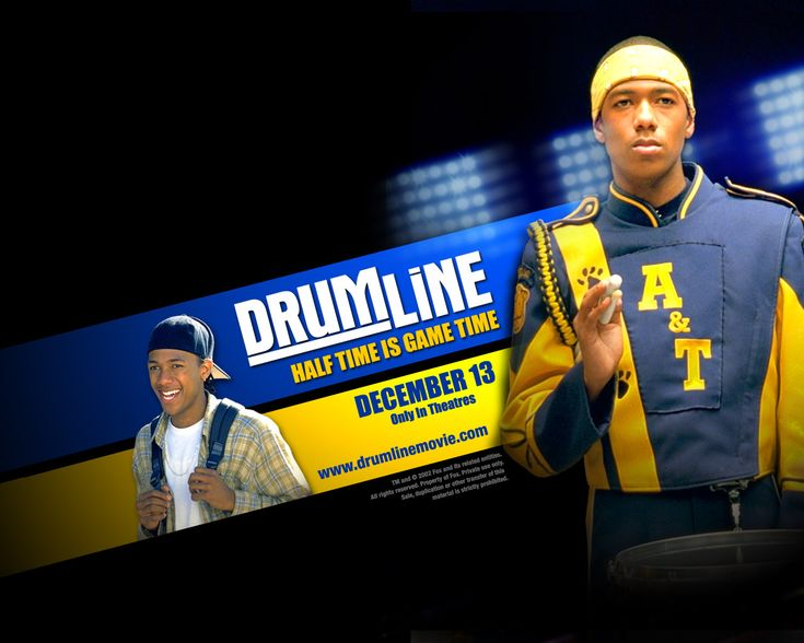 Drumline (2002).  A band director recruits a talented Harlem street drummer (Nick Cannon) to play at a Southern university. He enrolls in a Southern university expecting to lead its marching band's drumline to victory. http://play.theatrr.com/play.php?movie=0303933