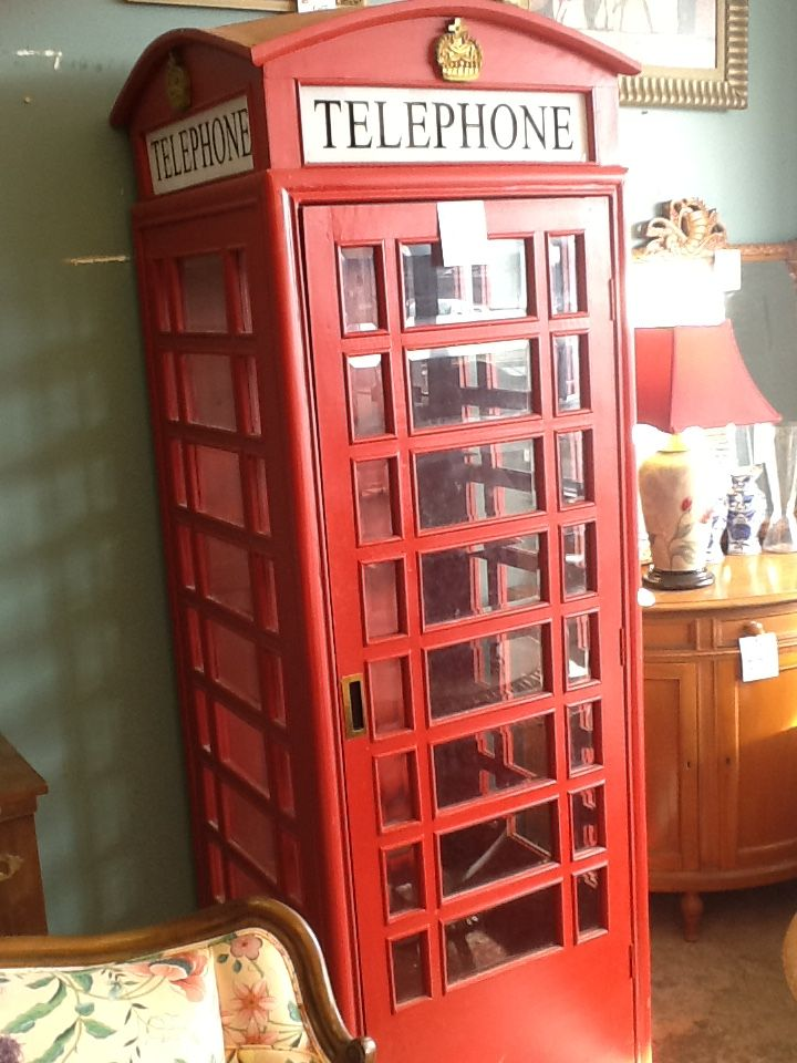 British Phone Booth Skeleton In A Scrumptious Red. For Sale At Reused  Furniture/Olathe