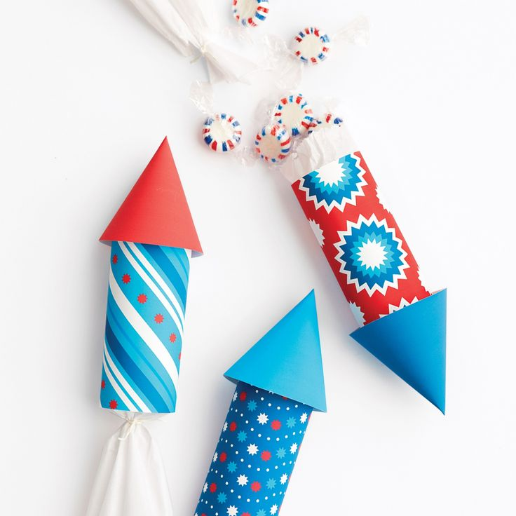 Send your guests to the moon with these lively rockets. They make playful favor packages for an Independence Day bash or a child's summer birthday. And constructing them is a snap -- no rocket science required.