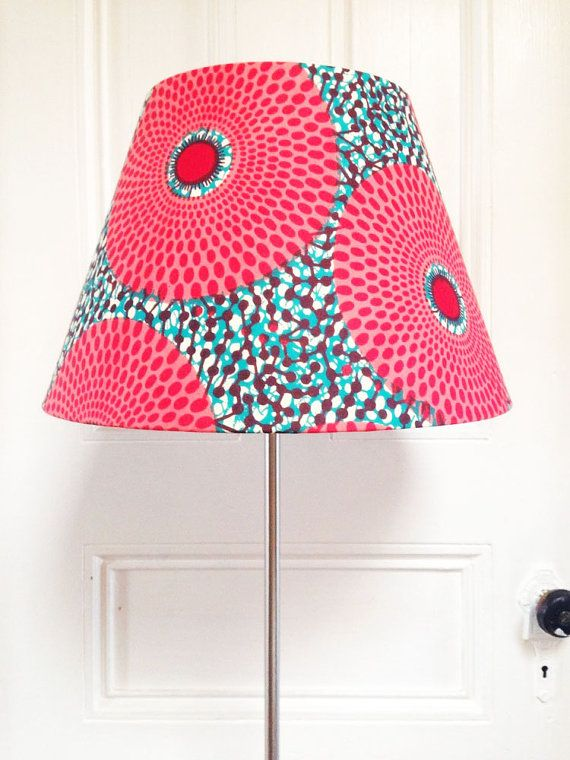 NEW! African Wax Print Lampshades