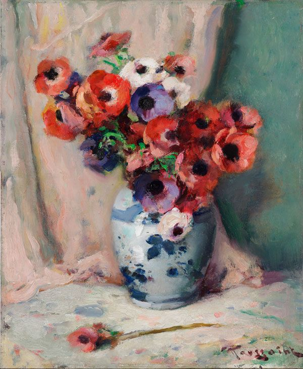 The Athenaeum - Anemones in a vase - Fernand Toussaint