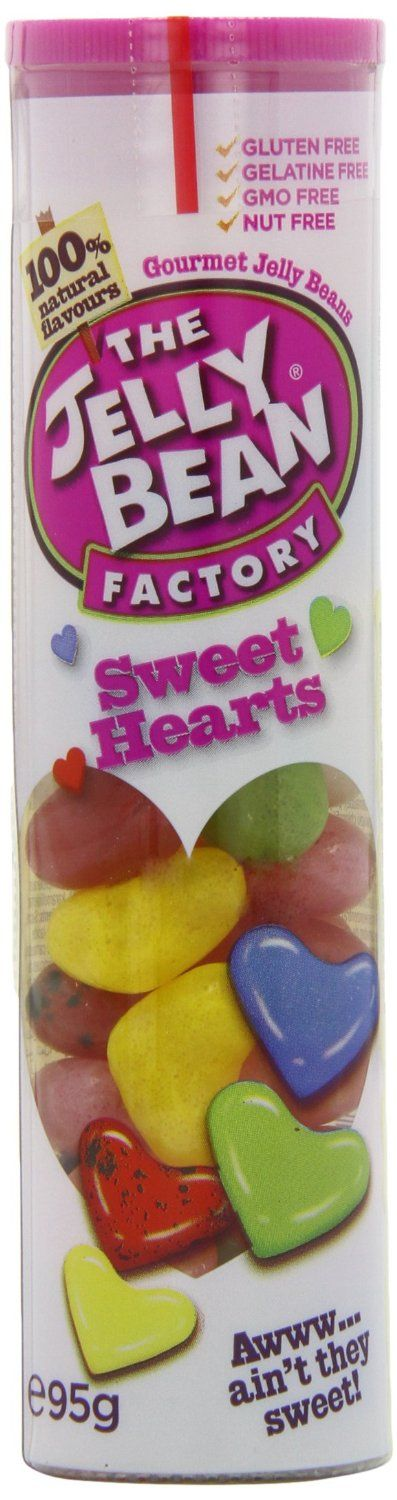 The Jelly Bean Factory Tube of Sweet Heart Jelly Beans 95 g