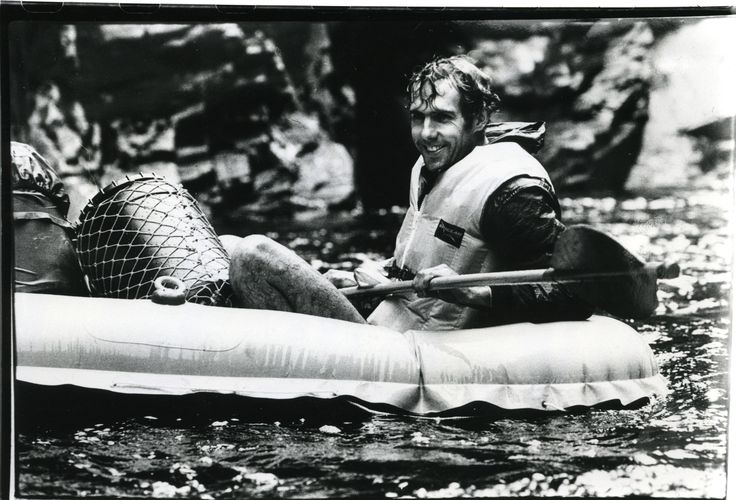 Bob Brown Rafting the Franklin in 1981 - Image courtesy of The Age