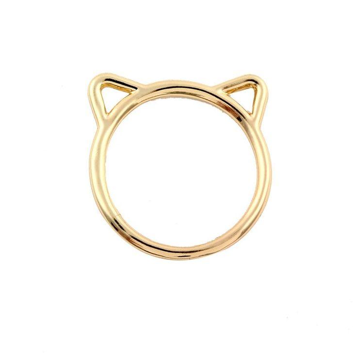 Hollow Cat Ear Ring