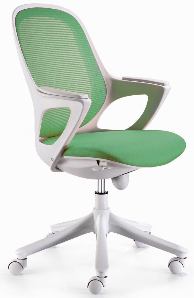 AMSTYLE MAGLO Office Chair verde / bianco sedia girevole fino a 120 kg nuovo in   eBay