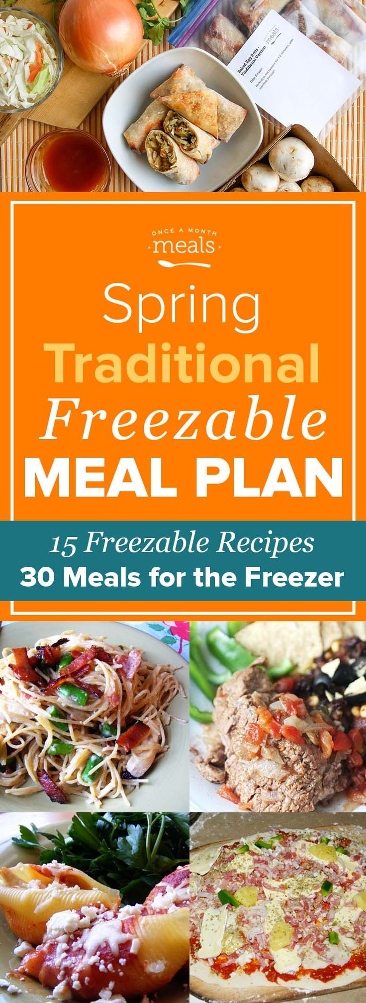 """Staying true to the """"traditional"""" format, out Spring Traditional Freezer Menu is full of simple family favorites."""