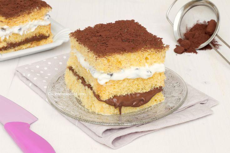 La mattonella di pandoro con Nutella e ricotta è un dolce davvero goloso senza cottura facilissimo e velocissimo da preparare, è favoloso!