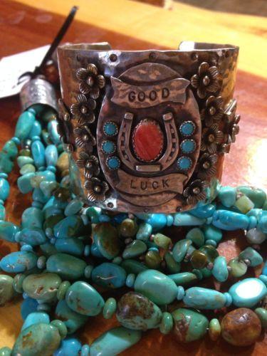 "Richard Schmidt Jewelry Design ""Good Luck"" Cuff Navajo Gypsy Cowgirl Style"