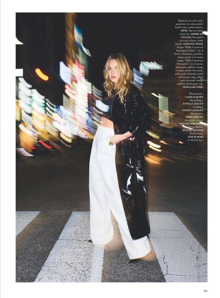"""""""Camille From Day to Night"""" Camille Rowe for Air France Madame April 2015"""