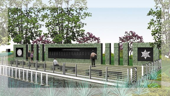 Concept for the Illinois State Police Memorial Park