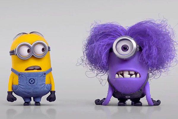 Despicable Me 2 Minions | Despicable Me 2: Purple Minion vs Minion - Video | Moresay Cartoon ...