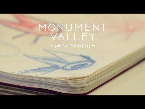 """Fun little peek behind-the-scenes: Monument Valley game.  """"every screen of the game would be a work of art""""  """"every screen shot could be printed out and printed on the wall"""""""