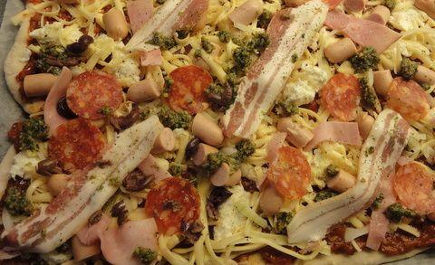 Pizza før ovnen