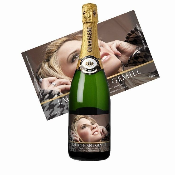 Personalised Champagne with Personalised Photo Label | The Personalised Gift Shop