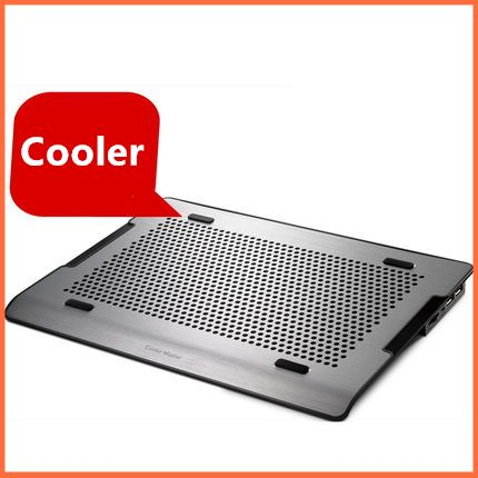 ==> [Free Shipping] Buy Best A200 Silver aluminum alloy wire drawing panel Stepless speed laptop cooler cooling fan plate stand pedestal mats Pads Bracket Online with LOWEST Price | 32302415724