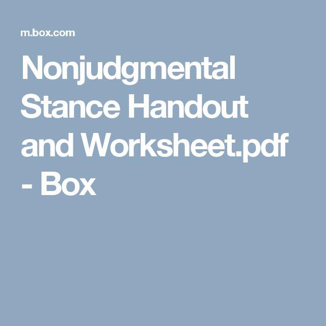 define nonjudgmental