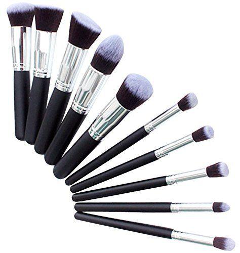 Demarkt Kit Pinceau Maquillage Brosse Professionnel 10PCS Eyebrow Shadow Makeup Blush Fond Teint AntiCerne: Quantité