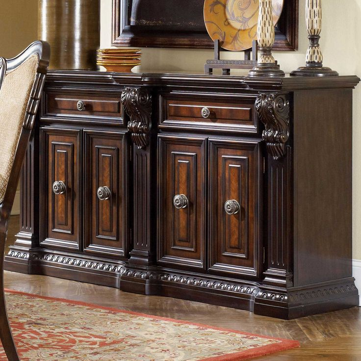 395 best credenzas and buffets images on pinterest bed furniture bedroom furniture and buffets for Fairmont designs grand estates bedroom