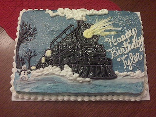 Samantha's Sweets: Polar Express Birthday Cake