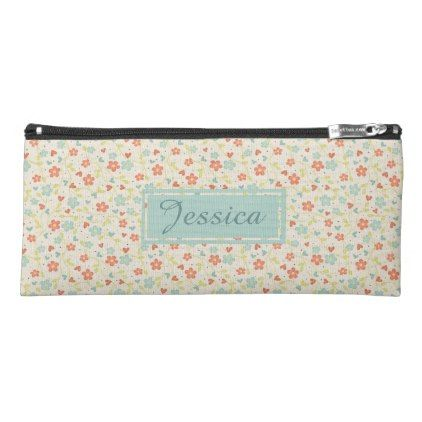 Vintage Light Spring Busy Floral Personalised Pencil Case - spring gifts beautiful diy spring time new year