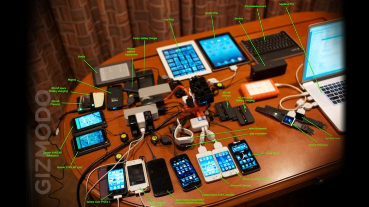 Some mornings I open my email and I receive something incredible like this: the awesome contents of Steve Wozniak's backpack. What you see above (click to expand) is just his charging setup—there's even more! Here's Woz to explain it himself—J.