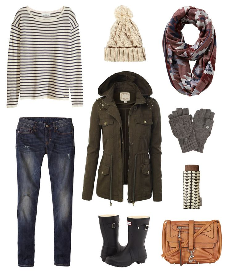 Rainy Day Outfit... Perfect fall/winter outfit