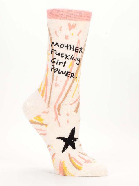 Mother F***ing Girl Power - Novelty Women's Crew Socks by NavyaOnline on Etsy