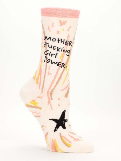 Mother F***ing Girl Power - Novelty Women's Crew Socks by NavyaOnline on Etsy