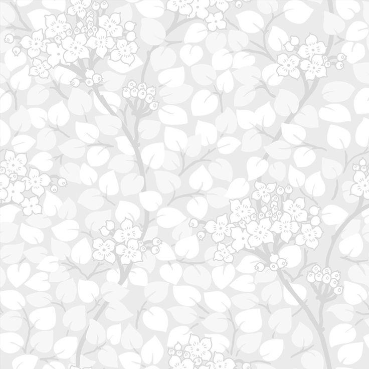 Tapet Grönska Silver Nyans Tradition tar avstamp i svensk tapetdesign med klassiska mönster och färger som passar i både nutid och dåtid. Grönska är inspi