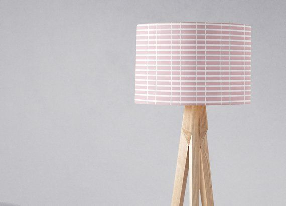 Pink Light Shade Pink White Nursery Lamp Shade Ceiling Lamp Shade Pink Bedroom Pink Home Decor Table Lamp Shade Drum Lampshade Shade With Images Pink Light Shades Table Lamp Shades Ceiling