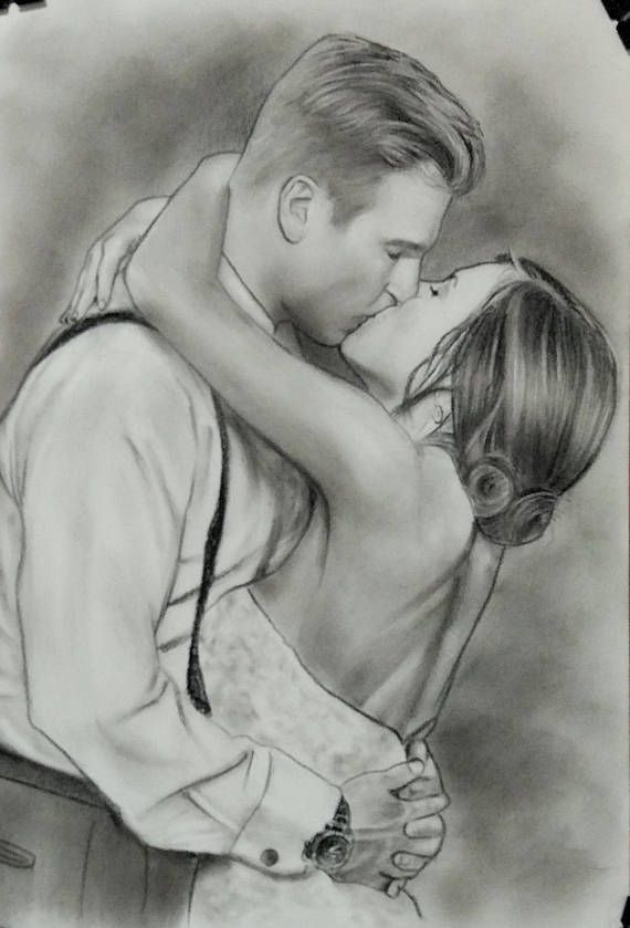 Gift for a new couple Personalized wedding portrait Customized