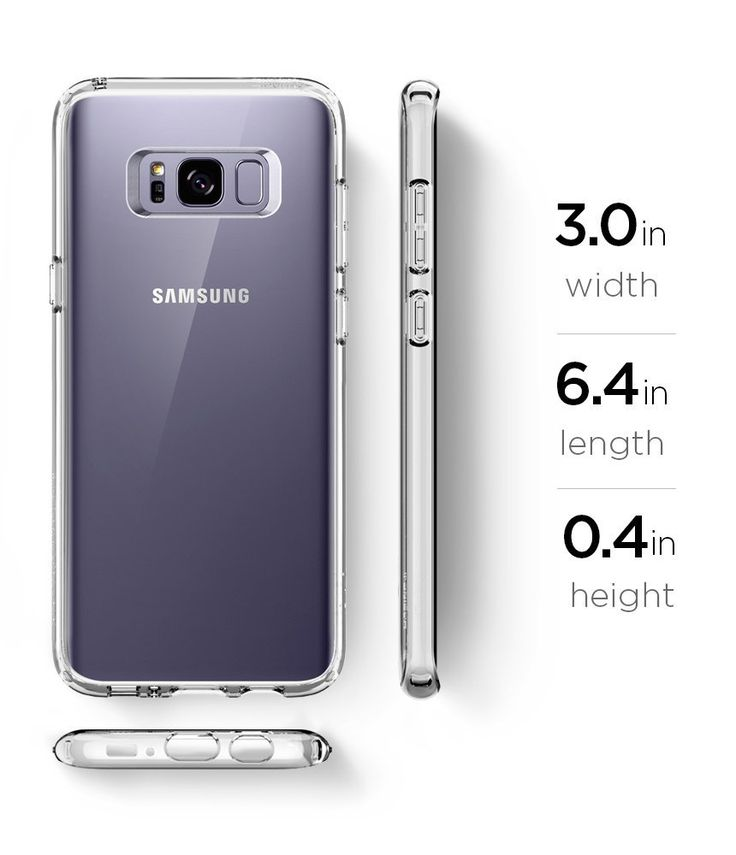 Galaxy S8 Plus Case / Galaxy S8 Plus Cases, Spigen Ultra Hybrid - Air Cushion Technology and Hybrid Drop Protection for Samsung Galaxy S8 Plus (2017) - Crystal Clear: Amazon.ca: Cell Phones & Accessories