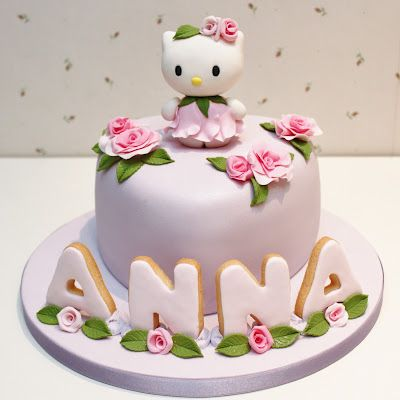 Pastel Hello Kitty vestida de rosa❥ via #martablasco ❥ http://pinterest.com/martablasco/