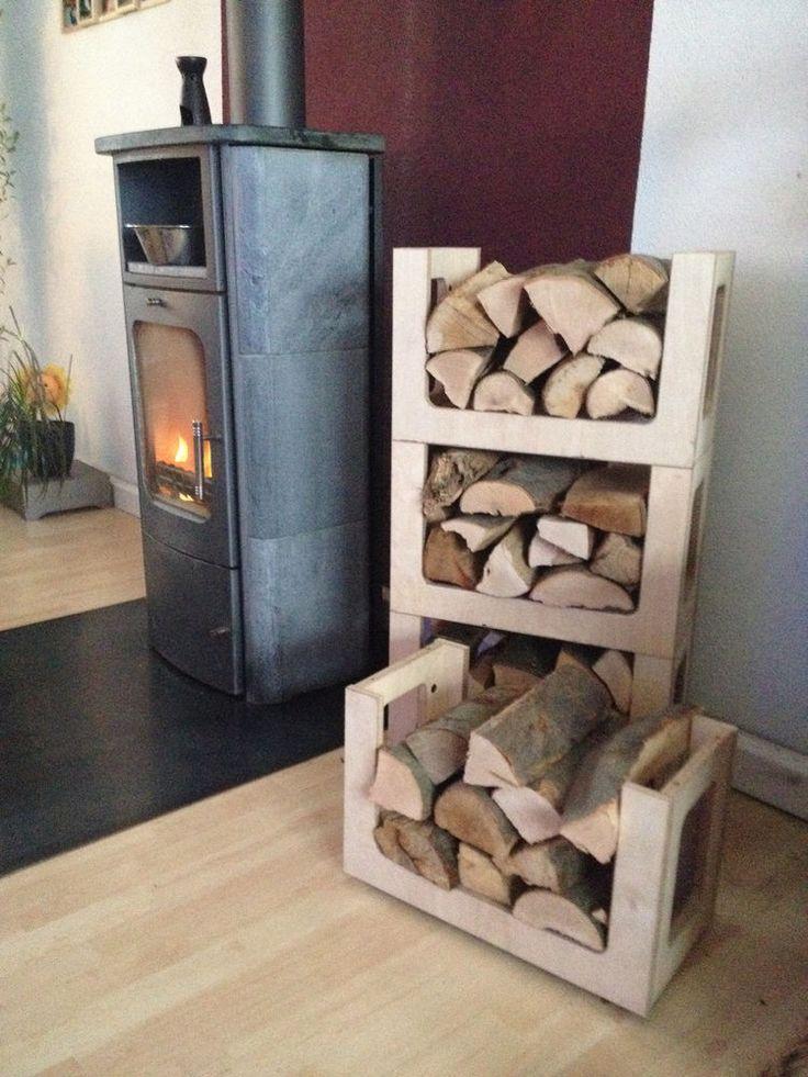 Brennholzregal wohnzimmer  Die 25+ besten Brennholzregal Ideen auf Pinterest | Brennholz-rack ...