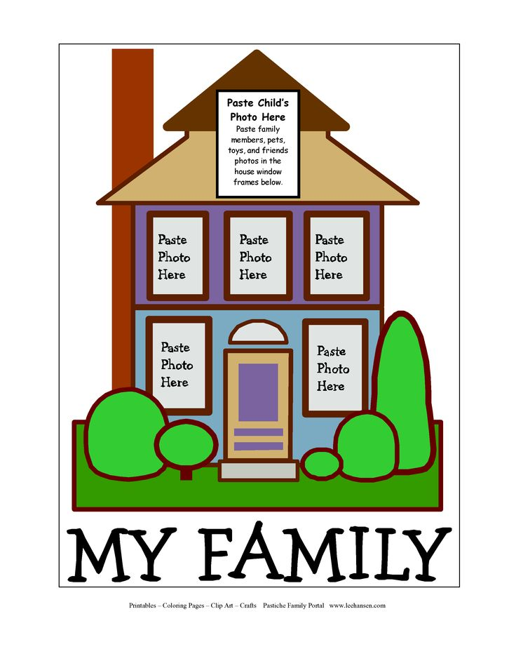 meet my family worksheet kindergarten