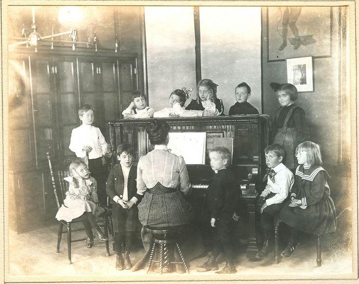 Music Time in Kindergarten, St. Louis, 1905