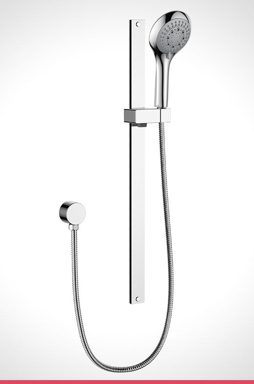 Rumba chrome 5 function shower rail