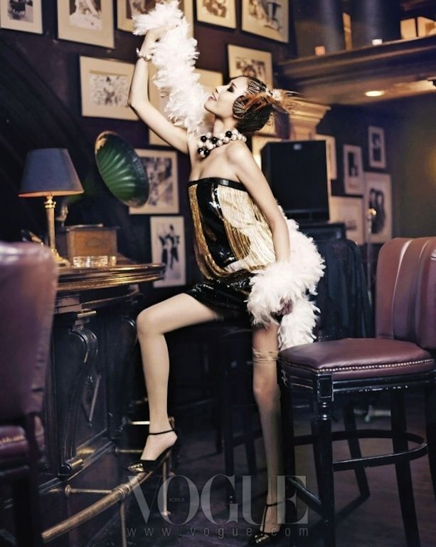 Korean Vogue goes Flapper