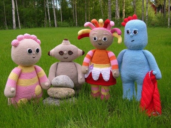 So cute! Crochet patterns for In The Night Garden characters. Make your own ITNG characters!