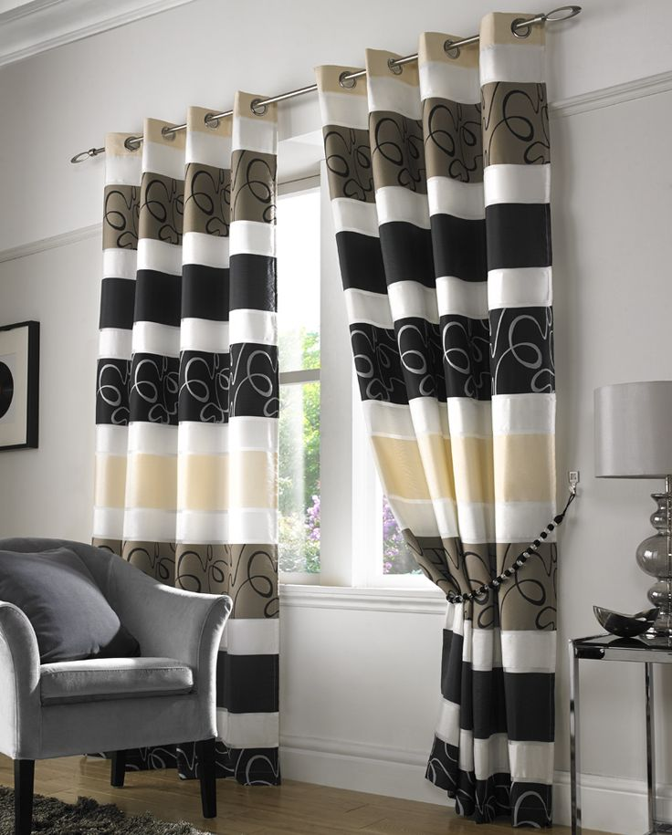 Good Quality Curtains Uk Part - 26: Take A Look At Our Grosvenor Organza Lined Eyelet Curtains In Black! Great  Quality And Affordable Prices At Terrys Fabrics!
