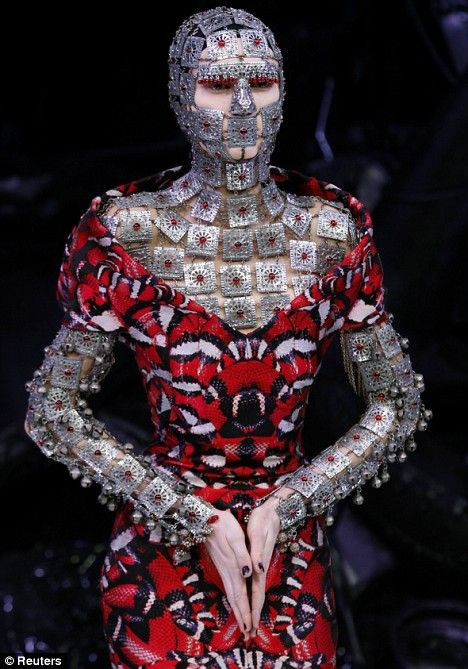 Alexander McQueen Coral Snake Dress
